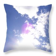 Clouds With Orb Throw Pillow