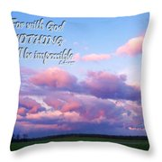 Clouds With Verse I Throw Pillow