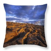 Cloudscape Over A Landscape, The Throw Pillow