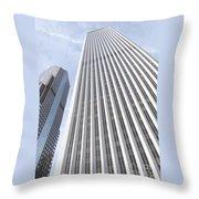 Cloudscraper Throw Pillow