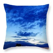 Cloudy Blue Monument Throw Pillow