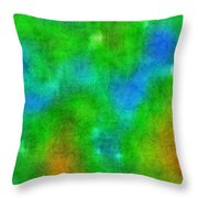 Cloudy Green And Blue Throw Pillow