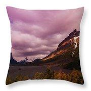 Cloudy Morning At Glacier Throw Pillow
