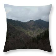 Cloudy Mountain Throw Pillow