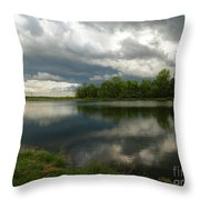 Cloudy With A Chance Of Paint 1 Throw Pillow