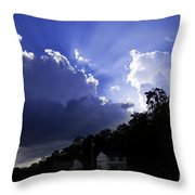 Cloudy With A Chance Of Sunshine Throw Pillow