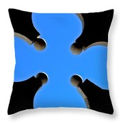 Cloverleaf Window Throw Pillow