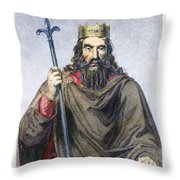 Clovis (c466-511) Throw Pillow
