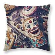 Clown Bank Throw Pillow