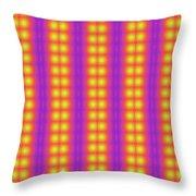 Clown Fractals Throw Pillow