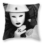 Clown Of Diamonds Throw Pillow