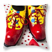 Clown Shoes  Throw Pillow