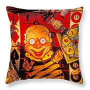 Clown Toy And Old Playthings Throw Pillow