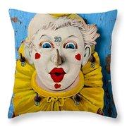 Clown Toy Game Throw Pillow