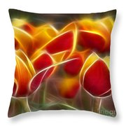 Cluisiana Tulips Triptych Panel 2 Throw Pillow