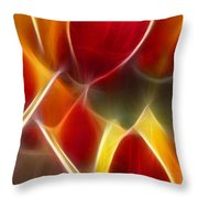 Cluisiana Tulips Triptych Panel 3 Throw Pillow