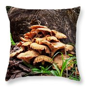 Cluster Fungus Throw Pillow