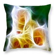 Cluster Of Gladiolas Triptych Panel 1 Throw Pillow