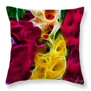 Cluster Of Gladiolas Triptych Panel 2 Throw Pillow