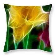 Cluster Of Gladiolas Triptych Panel 3 Throw Pillow