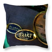 Clutch And Brake Throw Pillow