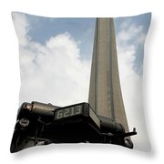 Cn Tower And Train Throw Pillow