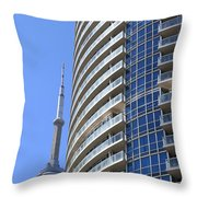 Cn Tower Throw Pillow