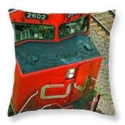Cn Train Cab Throw Pillow