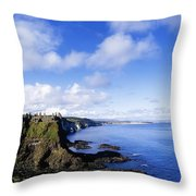 Co Antrim, Dunluse Castle Throw Pillow