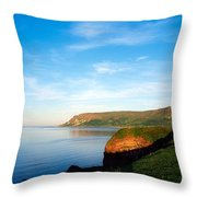 Co Antrim, Glenariff Or Waterfoot Throw Pillow