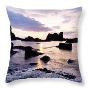Co Antrim, Whitepark Bay, Ballintoy Throw Pillow