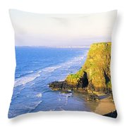 Co Derry, Ireland View Of Cliffs And Throw Pillow