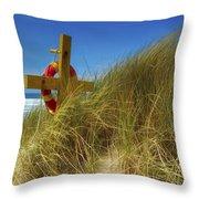 Co Down, Ireland Lifebelt Throw Pillow