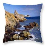 Co Dublin, The Bailey Lighthouse Throw Pillow