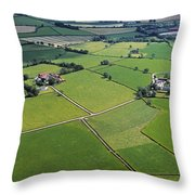 Co Fermanagh, Ireland Aerial View Of Throw Pillow