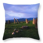 Co Kerry, Ireland, Stone Circle Throw Pillow