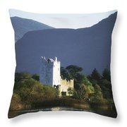 Co Kerry, Killarney, Ross Castle Throw Pillow