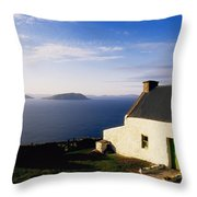 Co Kerry, Near Ballinskelligs, With Throw Pillow