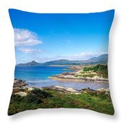 Co Kerry, Ring Of Kerry, Castlecove Throw Pillow