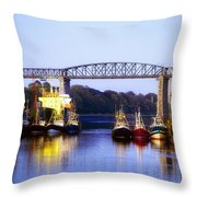 Co Louth, Drogheda And River Boyne Throw Pillow