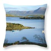 Co Mayo, Ireland Evening View Across Throw Pillow