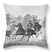 Coaching, 1860 Throw Pillow