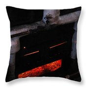 Coal Burner Face Throw Pillow