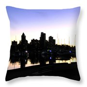Coal Harbour Throw Pillow by Will Borden