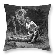 Coal Mine Disaster, 1884 Throw Pillow