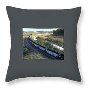 Coal Train - Johnstown  Throw Pillow