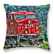 Coal Train Hdr Throw Pillow