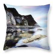 Coast Between Carnlough & Waterfoot, Co Throw Pillow