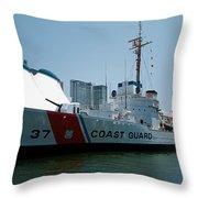 Coast Guard History  Throw Pillow