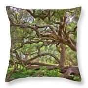 Coast Live Oak Throw Pillow